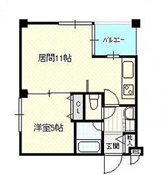 北海道札幌市豊平区美園十二条7丁目の賃貸マンションの間取り