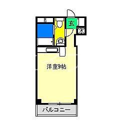 コーポ朝日II[4階]の間取り