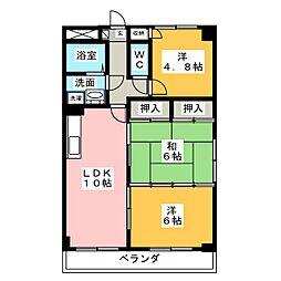 カノン梓[4階]の間取り