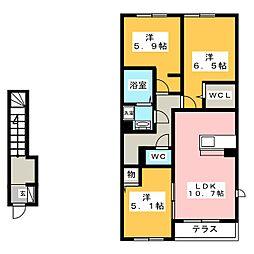 キャスパ[2階]の間取り