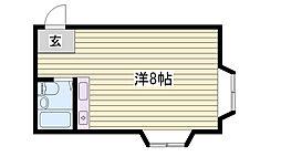カーサ香呂 4階ワンルームの間取り