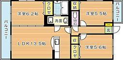 メルベーユII[3階]の間取り
