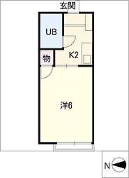 シャンポール杉田[2階]の間取り