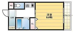 ウイングコート東大阪[602号室号室]の間取り