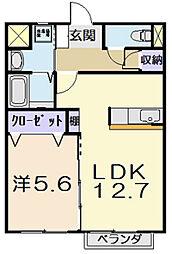 ルーチェ塚本[203号室]の間取り