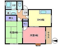 浜島ハイツ3[101号室]の間取り