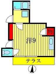 グリーンハイツ森田[1階]の間取り
