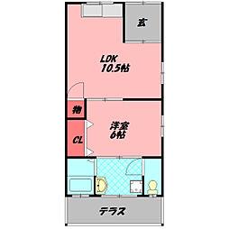 Osaka Metro谷町線 守口駅 徒歩10分の賃貸テラスハウス 1階1LDKの間取り