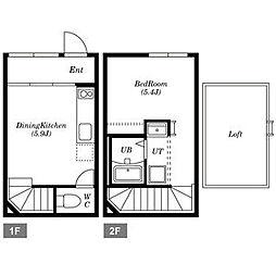 Wood MaisonN18[E号室]の間取り