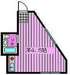 ミゼットハウス[203号室]の間取り