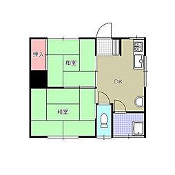 白石第一アパート[2階]の間取り