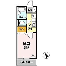 セジュール町田[1階]の間取り