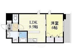 北大阪急行電鉄 桃山台駅 徒歩12分の賃貸マンション 3階1LDKの間取り