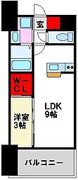 LIFEFIELD二日市駅前 1階1LDKの間取り