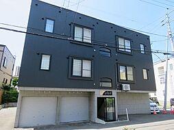 北海道札幌市西区琴似四条3丁目の賃貸アパートの外観