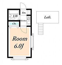 ローズアパートR48[1階]の間取り