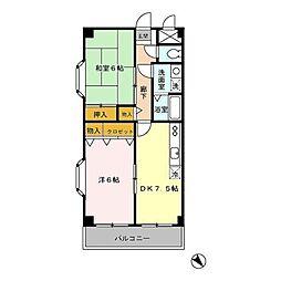 東京都調布市西つつじケ丘2丁目の賃貸マンションの間取り
