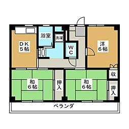 ビレッジハウス各務原 3号棟[1階]の間取り