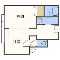 第41森宅建マンション[3階]の間取り