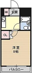 第7パールハイツ安井[201号室号室]の間取り