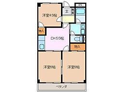 グレイスタウンMIWA B棟[3階]の間取り