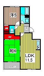 埼玉県川口市芝4丁目の賃貸アパートの間取り