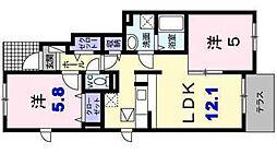 コスモスB[1階]の間取り