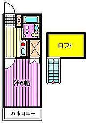 ラフォーレ大成[2階]の間取り