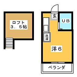 アイハイツ菫[1階]の間取り
