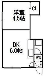 コーポ島田[3階]の間取り