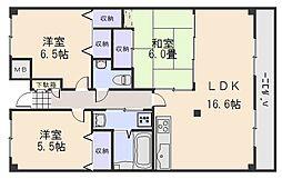 広島県広島市安佐南区東原3丁目の賃貸マンションの間取り