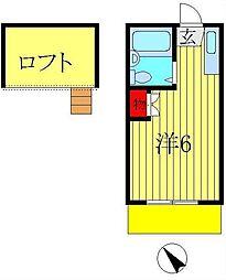ロフティドリームNO1・2[2-103号室]の間取り