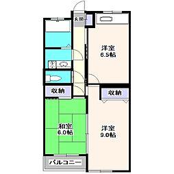 野寺マンション[2階]の間取り