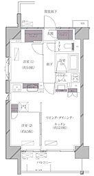 JR山手線 田町駅 徒歩11分の賃貸マンション 7階2LDKの間取り