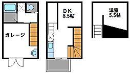 JR鹿児島本線 福工大前駅 徒歩5分の賃貸アパート 3階1DKの間取り