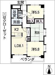 ファインパレス東郷[2階]の間取り