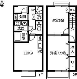 [テラスハウス] 愛知県安城市東端町天白 の賃貸【/】の間取り