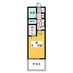 カーサ山田[1階]の間取り