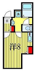 ATORAS MAKUHARI 4階ワンルームの間取り