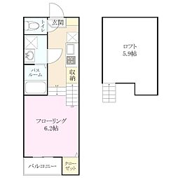 梅林2丁目 新築アパート[1階]の間取り