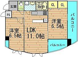 富士プラザV[4階]の間取り