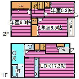 [テラスハウス] 北海道札幌市北区屯田十一条3丁目 の賃貸【/】の間取り