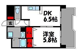 YSマンション壱番館[4階]の間取り
