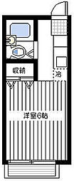 神奈川県横浜市南区井土ケ谷上町の賃貸アパートの間取り