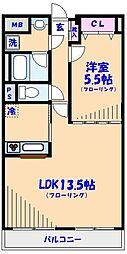 SATOMI-1番館[202号室]の間取り