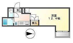 THUマンション[3階]の間取り