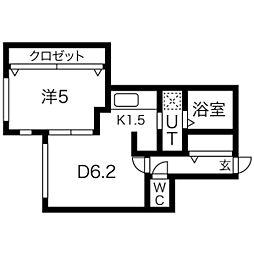 仮)北5条西10丁目マンション[4階]の間取り