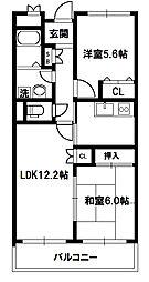 RESIDENCE COURT ANNEX[4階]の間取り