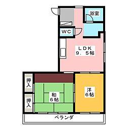 アメニティマンションウィル水戸[2階]の間取り