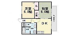 大阪府高石市西取石8丁目の賃貸マンションの間取り